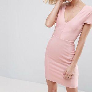 NWT Seamed Structured Rib Mini Dress